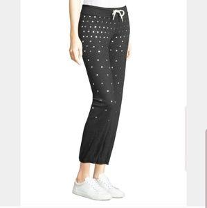 Monrow vintage studded sweat pants - light gray S